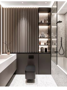 2020 Bathroom Interior Design Ideas - Page 5 of 5 - Kat's Beauty Book Bathroom Design Luxury, Bathroom Layout, Modern Bathroom Design, Home Interior Design, Interior Architecture, Restroom Design, Interior Livingroom, Interior Plants, Interior Modern