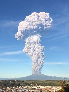 Chile erupción del volcán Calbuco