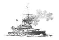 1898 - Coast Defense Ship 'Budapest'