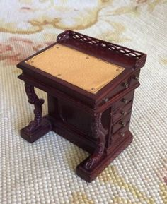 Desk Secretary Davenport Writing Table 1:12 Dollhouse Miniature