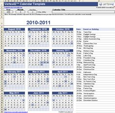 Download the Perpetual Calendar Template from Vertex42.com