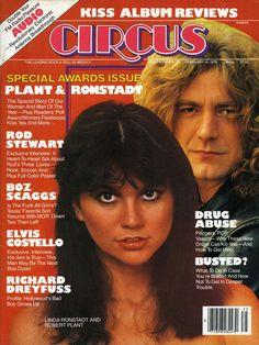 Linda Ronstadt & Robert Plant - Circus Magazine Cover (1978)