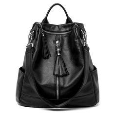 a4165a6e29 ladies shoulder bag female bag fashion wild PU soft leather backpack  shoulder bag