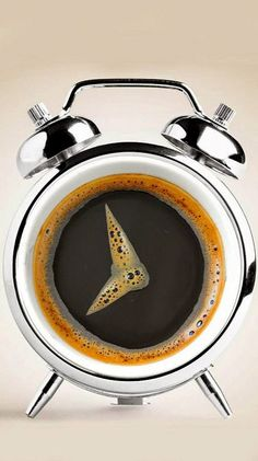 Coffee time. A much more welcome alarm clock.