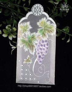 Vellum Crafts, Vellum Paper, Paper Art, Paper Crafts, Diy Crafts, Parchment Design, Parchment Cards, Book Markers, Leaf Coloring