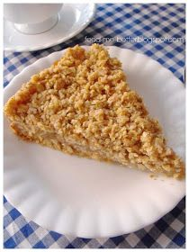 Feed Me Better: Lekka szarlotka owsiana. Healthy Desserts, Healthy Recipes, Dairy Free, Gluten Free, Tasty Dishes, Kids Meals, Macaroni And Cheese, Healthy Eating, Healthy Food