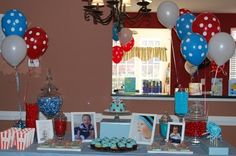 light blue and red theme...cute!