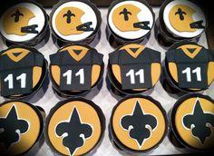 Saints Cupcakes