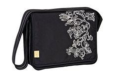 Lässig LMB10101121 Wickeltasche Casual Messenger Bag, flornament black