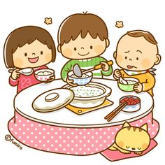 I like to eat food with my family. Baby Cartoon, Cartoon Kids, Micro Creche, Scrapbook Images, School Routines, Cute Clipart, Diy For Kids, Cute Pictures, Activities For Kids