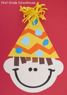 Back to School ideas. Celebrate birthdays with a simple craft.