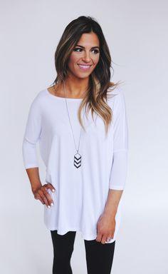 Dottie Couture Boutique - White Piko Top , $26.00 (http://www.dottiecouture.com/white-piko-top/)