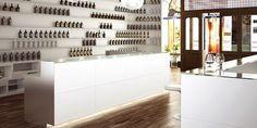 Bancone da interno / per bar / in vetro / luminoso KUBO JORDAO