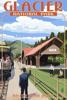 Belton Train Depot - West Glacier National Park 39aa25a433cf