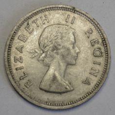 Coins South Africa South Africa Elizabeth II 2 Shillings 1958 | eBay
