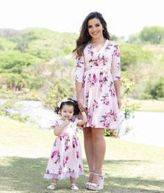 s Clothing Children' Mommy And Me Dresses, Mommy And Me Outfits, Mom Dress, Little Girl Dresses, Baby Dress, Girl Outfits, Girls Dresses, Mother Daughter Photos, Mother Daughter Fashion