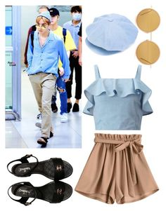 J-hope airport fashion by nutellasprinkles-s on Polyvore featuring polyvore, Miss Selfridge, Chanel, Undercover, Acne Studios, fashion, style and clothing