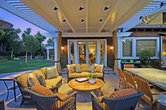 A Structure Home Client's Outdoor Covered Patio.