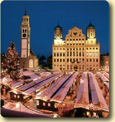 Augsburg Christkindlesmarkt (Christmas Market)- More very fond memories of our years in Augsburg and Germany in general.  They've held this market during the Christmas season for over 500 yrs!  Magical!!