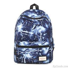Lightning Pattern Unisex Casual Daypacks for School Preppy Satchel Backpack (Black) Satchel Backpack, Rucksack Backpack, Black Backpack, Laptop Backpack, Picnic Backpack, Bags For Teens, Kids Bags, Canvas Shoulder Bag, Small Shoulder Bag