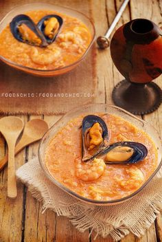 20-CHILE: Chupe de marisco | foodandchic Chilean Recipes, Chilean Food, I Love Food, Good Food, Healthy Fridge, Hispanic Dishes, Peruvian Recipes, I Foods, Seafood