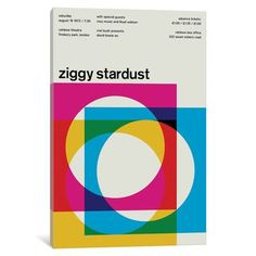 """Mercury Row Ziggy Stardust at Rainbow Theatre August 19th, 1972 Textual Art on Wrapped Canvas Size: 18"""" H x 12"""" W x 0.75"""" D"""