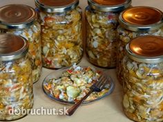 Slovak Recipes, Homemade Pickles, Canning Recipes, Kimchi, Herbalism, Smoothie, Food And Drink, Yummy Food, Favorite Recipes