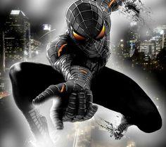Black Suited Spiderman