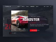 Roadster Web Design by Burhan Khawaja Flat Web Design, Graphisches Design, Creative Web Design, Media Design, Layout Design, Graphic Design, Design Thinking, Web Design Tutorial, Web Design Quotes