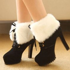 Popular Plush Martin Ankle Boots - Booties
