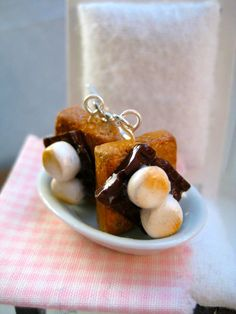 S'mores Dangle Earrings by Alliesminis on Etsy, $13.20