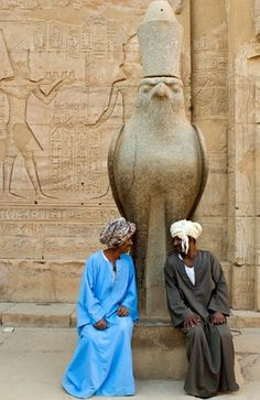 Egypt, Upper Egypt, Nile Valley, Edfu, temple dedicated to Horus God