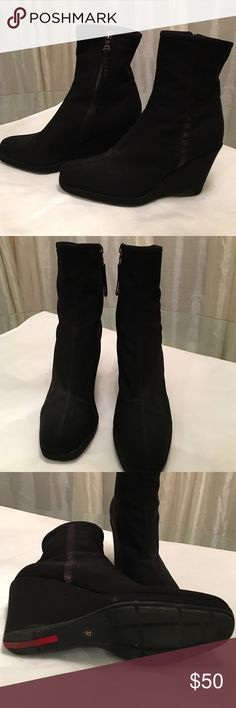 Prada boots Black Prada boots Prada Shoes Heeled Boots