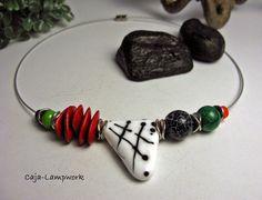 Caja-lampwork  --  Schmuck aus Glas : mixed media necklace