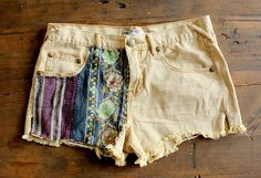 How to create DIY cut off shorts with insets!
