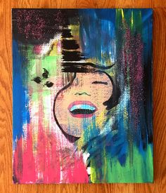Marilyn Goes Pop Art Painting by ThatsHighlyOffensive on Etsy https://www.etsy.com/listing/229496695/marilyn-goes-pop-art-painting