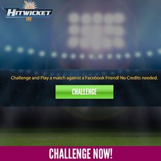 Challenge any of your #fb #friends and play a match! #cricket #cricketgame #hitwicket