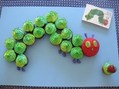 The Very Hungry Catepillar cupcakes - @Kelli Cherep - are you doing the hungry catepillar for one of the girls' birthdays?