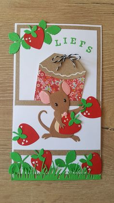 Cute Cards, Diy Cards, Candy Crafts, Marianne Design, Scrapbooking, Creations, Mice, Butterflies, Kittens
