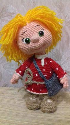 Одноклассники Amigurumi Patterns, Amigurumi Doll, Doll Patterns, Knitted Dolls, Crochet Dolls, Love Crochet, Crochet Baby, Crochet Doll Pattern, Crochet Patterns
