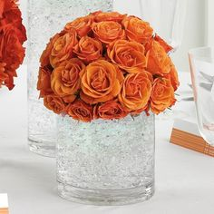 Simple and elegant Fall wedding table centerpiece / accent