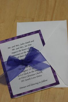 Tutorial for Budget Saving DIY Wedding Invitations