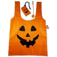 Trick Or Treat Bag Lighted Halloween Nylon Tote Candy Bag with Extra Bright Flashing LED Safety Light (1) ** Check this awesome product by going to the link at the image. (This is an affiliate link) #Favors