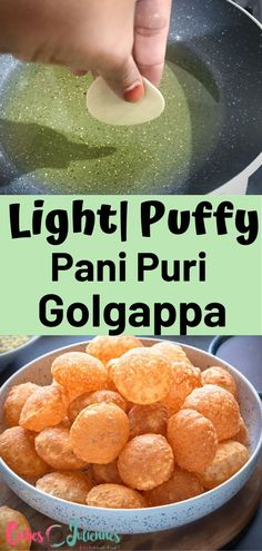 - - Golgappa puri or Puchka or puri for pani puri - A fool proof, tried and tested recipe of perfectly puffed, light, super crisp puris that has been hugely hit each time I have made it at home. Puri Recipes, Snack Recipes, Cooking Recipes, Pakora Recipes, Cooking Tips, Breakfast Recipes, Pani Puri Recipe, Chaat Recipe, Indian Dessert Recipes