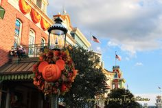 The Changing of the Seasons at Magic Kingdom, It's Fall 2013 #Disney #MickeyMouse #Pumpkin #Wreath