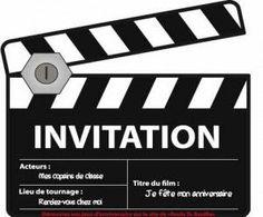 cinema birthday invitation by