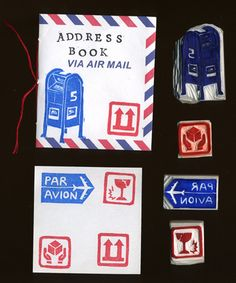 Twelve Days of Mail Art - Day Eight: Five Rubber Stampings