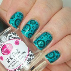 Painted Nubbs: China Glaze Turned Up Turquoise and Cheeky Ch33