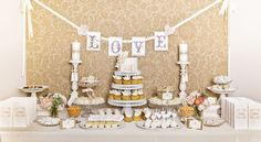 For more ideas about dessert tables and wedding planning / coordination contact Celebrationsbydi.com or telephone 951-265-6557