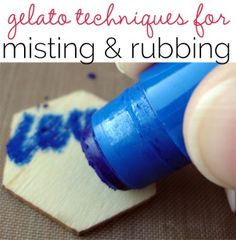 Gelatos Art How-To for Misting and Rubbing Techniques - Get It Scrapped!
